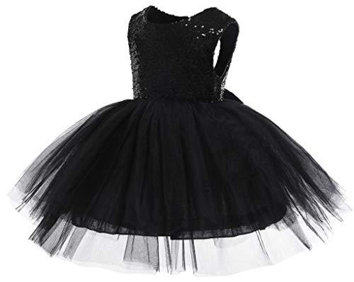 Black Tutu Fancy Dress - Kokowaii Fancy Toddler Baby Girls Sequin