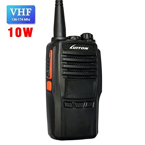 LUITON Walkie Talkie Two Way Radio LT-188H VHF Radio 10 Watts Handheld Radio Walkie Talkies 10 miles Long Range Radio Walkie Talkies Amateur Two-Way Radio (Black) by LUITON