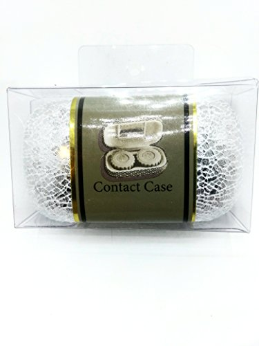 HARD SHELL CONTACT LENSE CASE SILVER/ - Lenses Gray