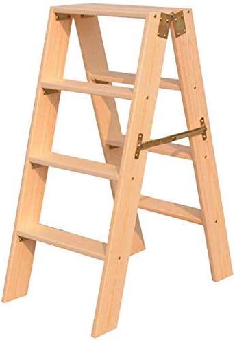 Escalera de Mano Plegable portátil de 4 escalones, Escalera de Madera para niños y Adultos, Herramienta Principal de jardinería, Servicio Pesado Altura máxima de: Amazon.es: Bricolaje y herramientas