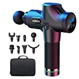 ABOX Deep Tissue Massage Gun, with 8 Heads and 30 Adjustable Speeds ,Powerful Handheld Muscle Massager, Cordless Electric Percussion Massager for Muscles, Back, Foot, Neck, Shoulder, Leg, Calf Pain Relief