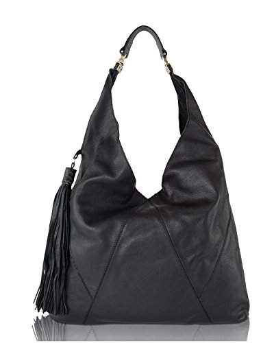 Steve Madden Black BMargaux Tassel Hobo Shoulder Bag by Steve Madden