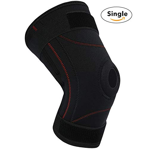 Knee Brace Support Compression Sleeves - Adjustable Open Patella Support for Swollen ACL, LCL, MCL, Meniscus Tear, Arthritis, Tendonitis Pain, Ligament and Meniscus Injuries - Athletic Compression fo