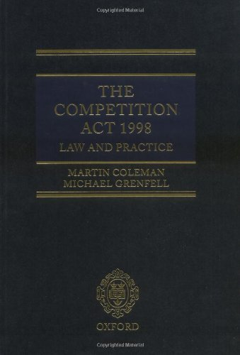 The Competition Act 1998: Law and Practice