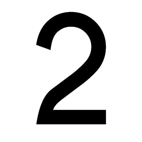 Mülltonnen Aufkleber Zahlen Sticker Folie Ziffern Kombinierbar 10 Cm Zahl 2 Schwarz