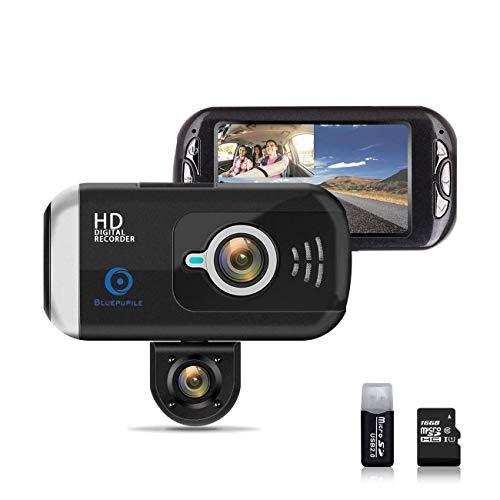 (BLUEPUPILE Dash Cam 1080P Dual Lens Dashboard Camera Recorder 170° Wide Angle Lens 3