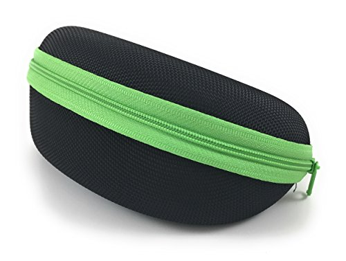 Semi Hard Sunglass Case for Sports Size Sunglasses and Safety - Sunglasses Hard Protective Glasses