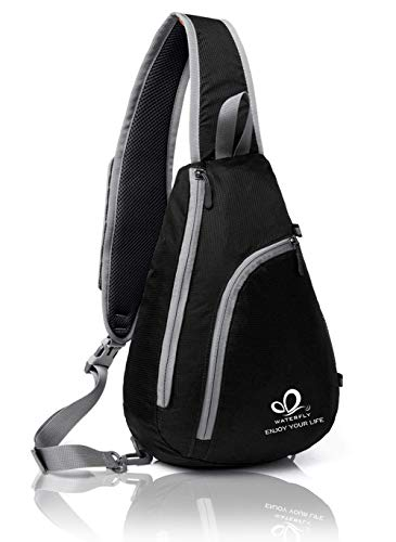 - Waterfly Chest Sling Shoulder Backpacks Bags Fashion Cute Crossbody Rope Triangle Rucksack for Hiking or Multipurpose Daypacks for Man Women Lady Girl Teens
