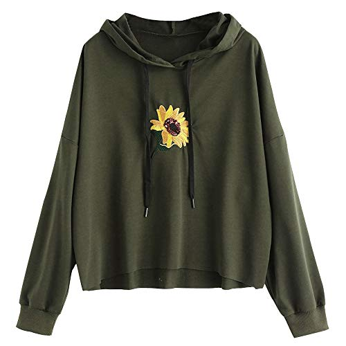Londony Fashion Sweatshirts in Women Daisy Print Hoodie Sweatshirt Teen Sweater Pullover 815 Tops from Londony