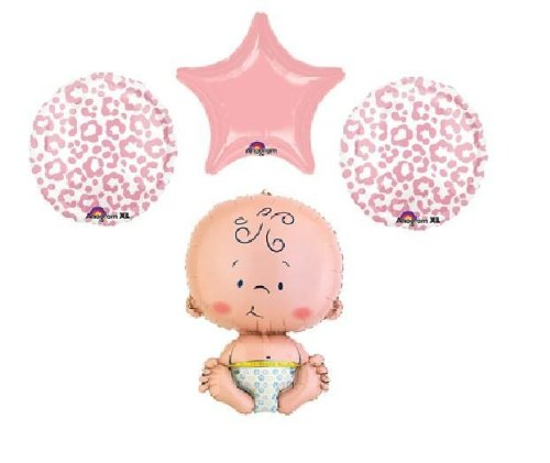 (BABY SHOWER animal print theme pink party decorations supplies cheetah)