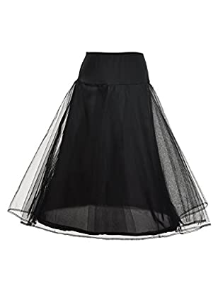 Remedios 1 Hoop Bridal Petticoat Underskirt for A Line Wedding Dress S-XL