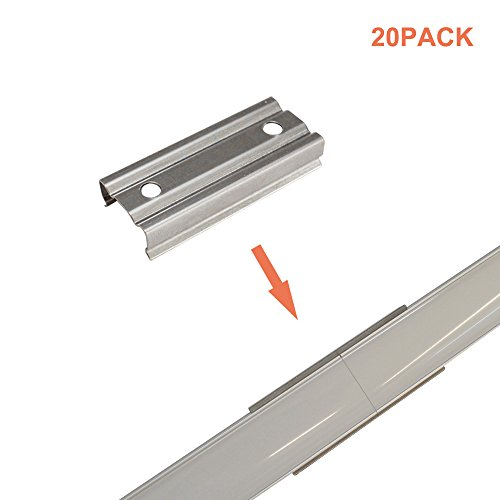 (Hunhun 20 Pack Extension Connectors for Hunhun U Shape LED Aluminum Channel System(U channel type))