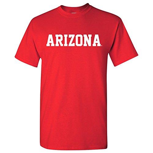 AS01 - Arizona Wildcats Basic Block T-Shirt - 2X-Large - Red