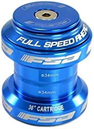 FSA Orbit MX 1-1/8Inches Threadless MTB Road Headset with Top Cap, Blue , NO.20 , XTE1505