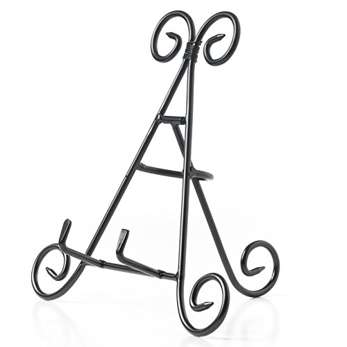 HUJI Sturdy Iron Display Stand Holder For Home Kitchen Decoration Platters, Pictures, Frames and Books. Frame Stand
