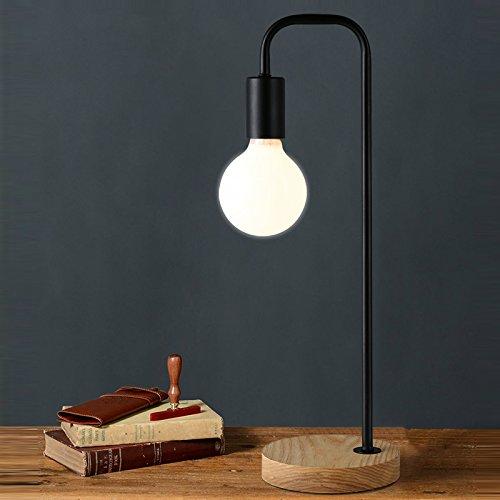 Retro Pole 3w Desk Table Antique HomeLoft Industrial Maso Includedblack Vintage Lamps With Led Socket LampBulb Base Metal Stand 4ARL3j5
