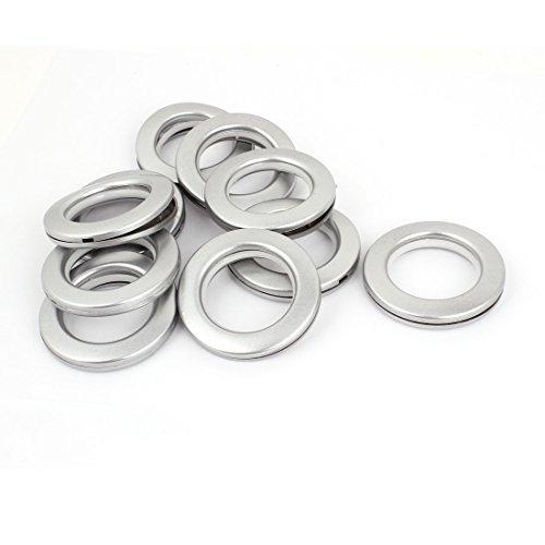 eDealMax 41mm intrieur Dia Plastique de Stores romains rideaux Anneaux gris 10pcs