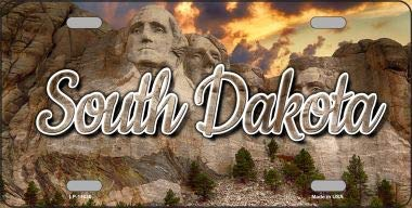 South Dakota Mt Rushmore State License Plate LP-11630 (South State Plate License Dakota)