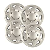 Hubcaps.com - Premium Quality - Ford Van Replica Hubcaps, 16'' Silver Replica Wheel Covers, One Piece Heavy Duty Construction, Factory Replacement (Set of 4)