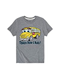 Instant Message That's How I Roll School Bus - Toddler Short Sleeve Tee