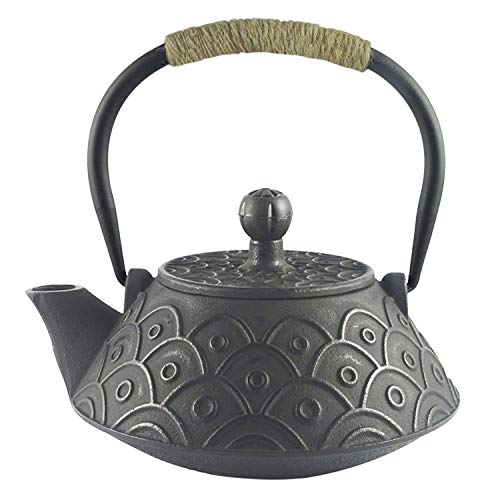 Cast Iron Ball (Hwagui - Best Cast Iron Teapot With Stainless Tea Infuser For Loose Leaf Tea Or Teabag, Black Tea Kettle 800ml/27oz)