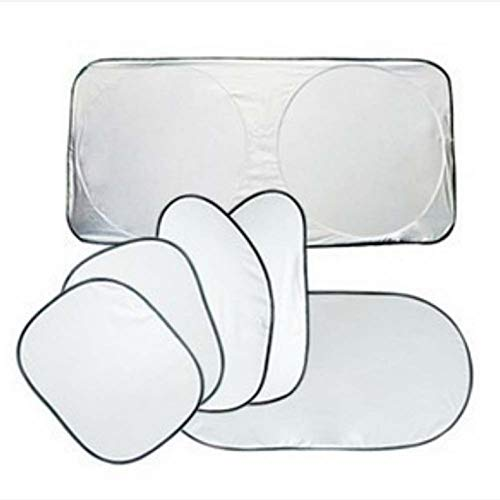Isolant solaire pour voiture /Écran solaire /écran Silver Cloth 6 Pcs Set Soleil de voiture Set Isolant /écran solaire Rideau de voiture