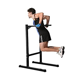 Ollieroo Heavy Duty Dip Stand Freestanding Dip Station Parallel Bar Bicep Triceps Home Gym Dipping Station Dip Bar Black
