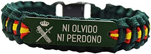 Green Line by Albero Pulsera Paracord Guardia Civil. Ni Olvido Ni ...