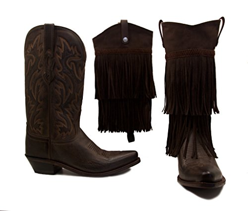 Old West Boots With Brown Fringe BootRoxx Size 9 (Old West Outfit)