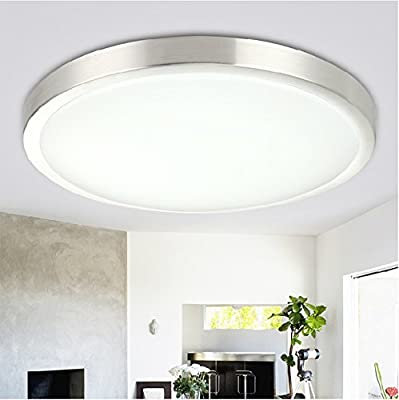 LED Flush Mount Ceiling Light, for Living Room, Bathroom, Bedroom, and Dining Room, (Natrual White), 12w Power, ¦µ29.5*9cm, 1pcs, AC110V-220V, CE RoHS UL-classified
