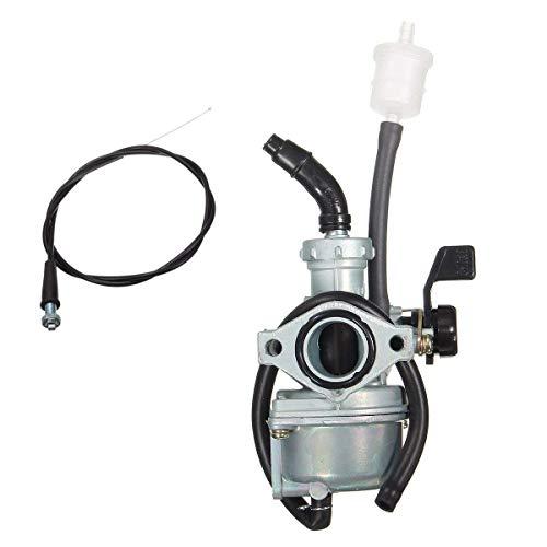 Casavidas Cable del Acelerador del Filtro de Aire de 36 mm del carburador de admisión de 22 mm para Honda XR70R CRF70F