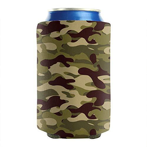 Classic Woodland Fashion Camouflage 12-16 OZ Bottles Neoprene Insulated Beer Can Sleeves Non-Slip Bottles Collapsible Double Sided 2-Pack Weddings