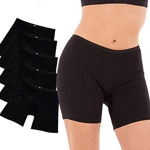 OFEFAN Women's Regular & Plus Size Stretch Cotton Long Leg 6.5