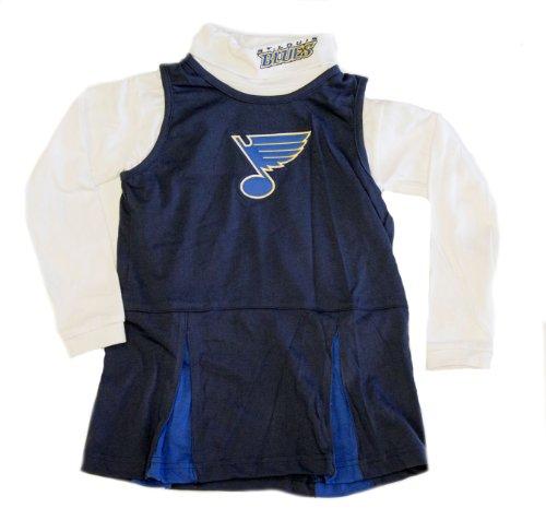 [NHL Licensed St. Louis Blues 2 Piece Cheerleader Uniform (Large 6X)] (Hockey Stanley Cup Costume)