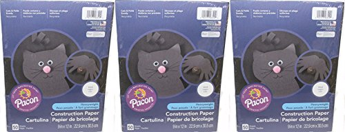 Pacon (TM) Construction Paper, Heavyweight, 9-Inches by 12-Inches, 150-Count, Black (6320)