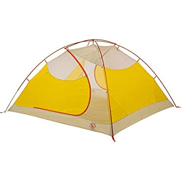 Big Agnes Tumble 4 mtnGLO 4 Person Backpacking Tent-Yellow/ Grey-4 Person (TT4MG18)