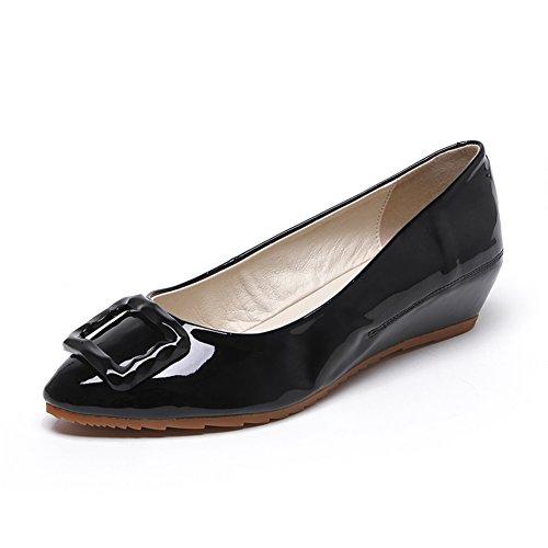 Primavera moda zapatos de la señora/poco calabaza acentuada zapatos/Fin de cuesta con zapatos de suave rollo de huevo A