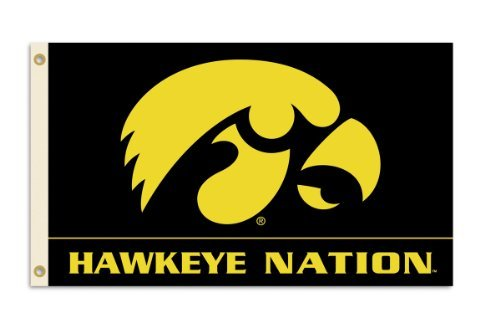 Hawkeyes Outdoor Iowa Accessories - NCAA Iowa Hawkeyes 3-by-5 Foot Flag With Grommets
