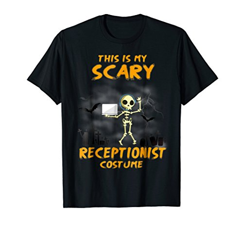 This is my Scary RECEPTIONIST Costume Halloween T-Shirt -
