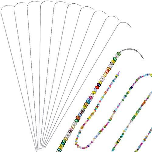 10 Agujas flexibles para enhebrar collares (bead spinner)