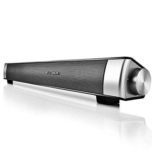 ELEGIANT Portable USB Speakers, Bluetooth Stereo Sound Bar USB Powered...
