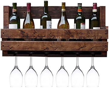 LJWJ Estante para Vinos, Bar, Restaurante, Colgante, Estante para Copas de Vino, Soporte para Copas de Vino Vintage de Estilo Industrial Vajilla para Colgar en el Techo Estantes para Copas de Metal