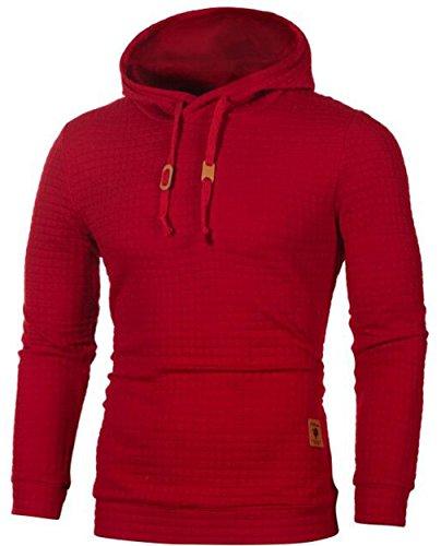 Mode Longues Nouvelle Hommes Manches À Hoodies Hiver Couture Rouge Capuche Et Sport Automne Veste Sweat De x778qFAR