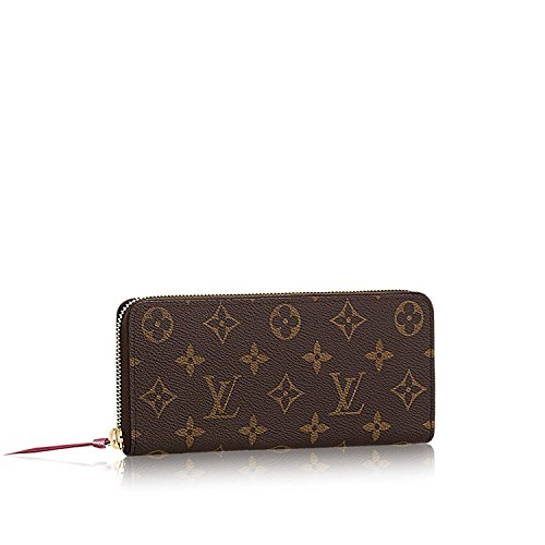 Louis Vuitton Monogram Canvas Fuchsia Clemence Wallet