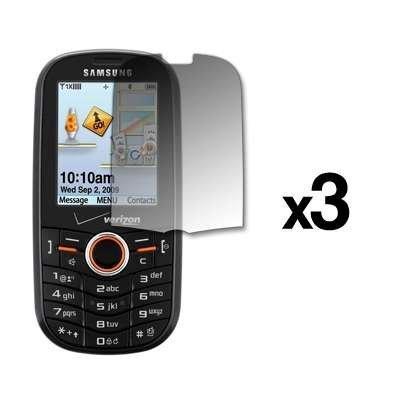 (3 Pack Premium Reusable LCD Screen Protectors for Samsung Intensity U450 )