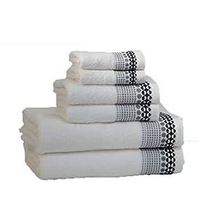 RAAF TEXTIL Juego de Toallas de baño 6 Piezas (Blanco, 2-70x140 2