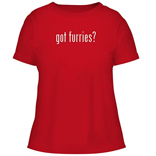 BH Cool Designs got Furries? - Cute Women's Graphic Tee, Red, Large -