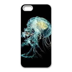 iPhone 5 5s Cell Phone Case White Nature Fantasy Undersea Jellyfish Art LV7983232