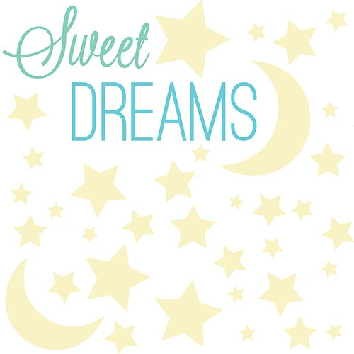 RoomMates RMK3092SCS Sweet Dreams Glow In The Dark Peel And Stick Wall Decals