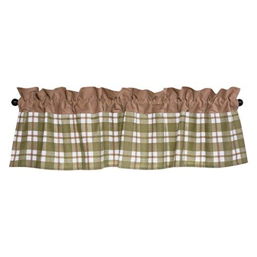 Curtains Plaid Green (Trend Lab Deer Lodge Window Valance, Green)
